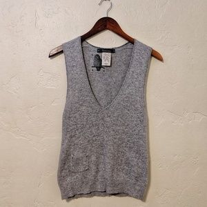Anthropologie Gray Sweater Tank